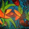Abstrakt, Malerei, Pflanzen, Urwald