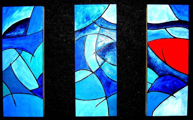 Malerei, Rot, Dominanz, Abstrakt