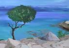 Blau, Acrylmalerei, Aquarellmalerei, Meer