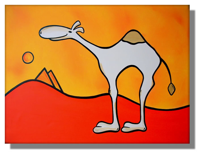 Camel, Landschaft, Pop, Kamel, Comic, Wüste