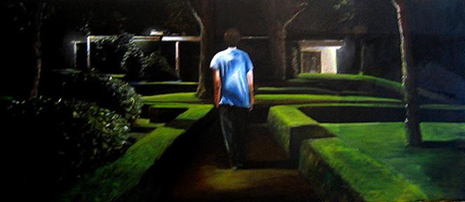 Menschen, Portrait, Mann, Malerei, Ölmalerei, Frau