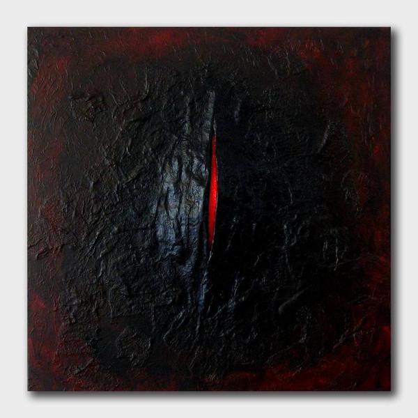 Struktur, Acrylmalerei, Gips, Flammen, Abstrakt, Rot schwarz