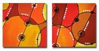 Orange, Abstrakt, Malerei, Gelb