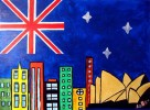 Stadt, Bunt, Malerei, Australien