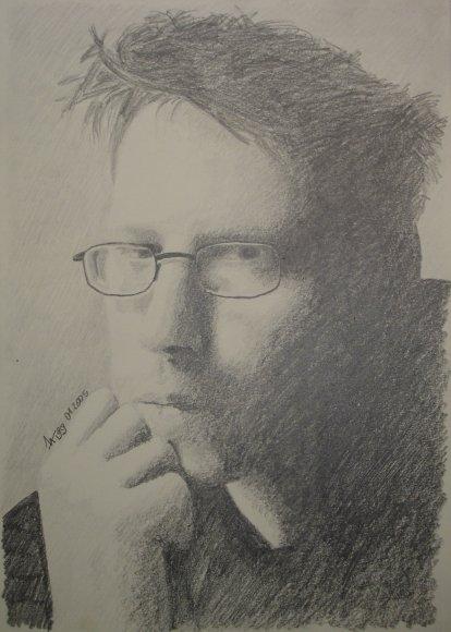Bleistiftzeichnung, Realismus, Malerei, Selbstportrait, Portrait,