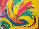 Abstrakt, Malerei, Variation, Gelb