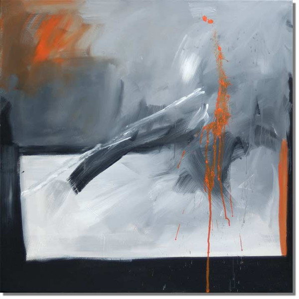 Abstrakt, Malerei, Orange