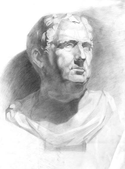 Portrait, Zeichnung, Zeichnungen, Serie