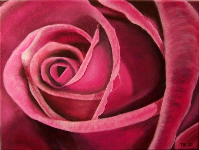 purple rose blumen stillleben purpur acrylmalerei von thomas bley bei kunstnet. Black Bedroom Furniture Sets. Home Design Ideas