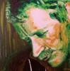 Spachteltechnik, Acrylmalerei, Portrait, Selbstportrait