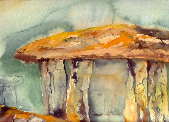 Steinkreise, Malerei, Irland, Aquarellmalerei, Megalith, Dolmen
