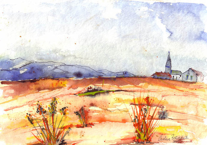 Farben, Malerei, Landschaft, Herbst, Dekoration, Aquarellmalerei