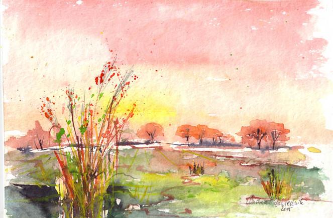 Landschaft, Malerei, Sommer