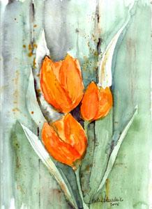 Malerei, Tulpen