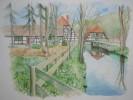 Malerei, Landschaft, Aquarellmalerei