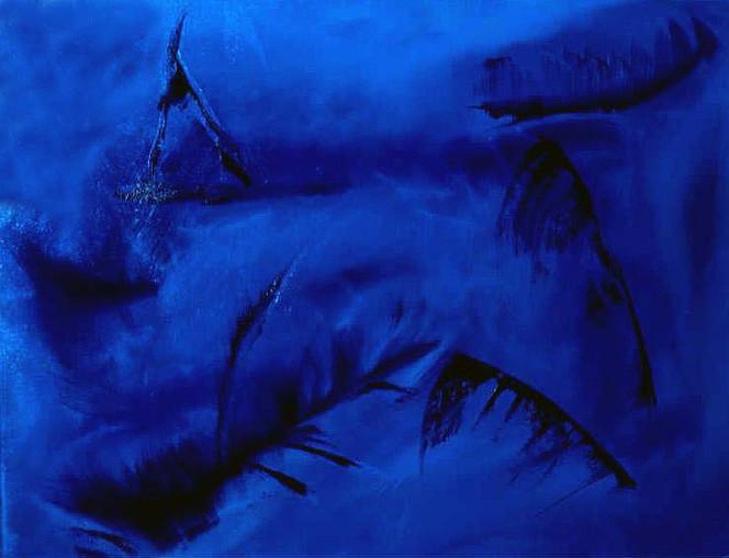 Blau, Malerei, Abstrakt, Wild