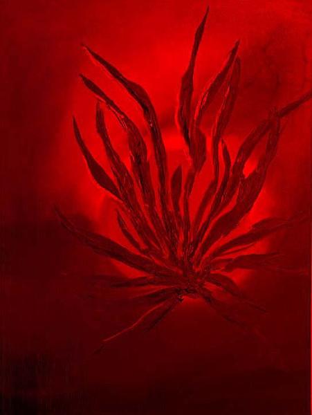 Flammen, Abstrakt, Malerei, Feuer, Rot