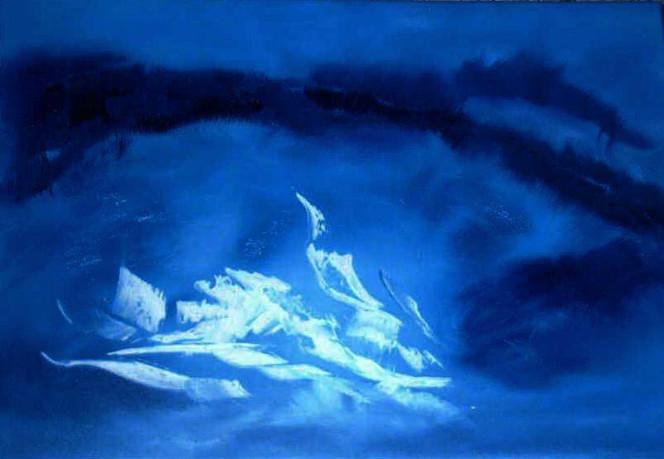 Weiß, Wasser, Abstrakt, Malerei, Welle, Blau