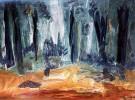 Baum, Wald, Lichtung, Malerei
