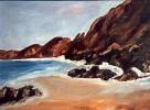 Meer, Strand, Malerei, Felsen