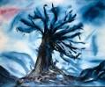 Baum, Kälte, Malerei, Pflanzen