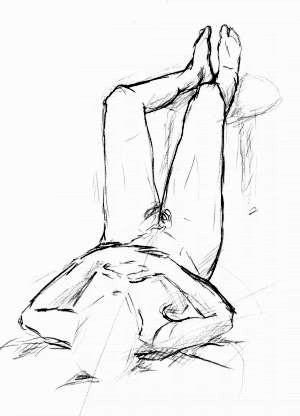 Zeichnung, Skizze, Zeichnungen, Mann, Liegend