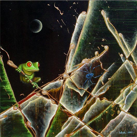 Surreal, Malerei, Tiere, Frosch