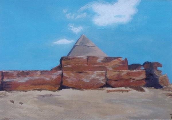 Landschaft, Acrylmalerei, Ägypten, Malerei, Chephren, Pyramide