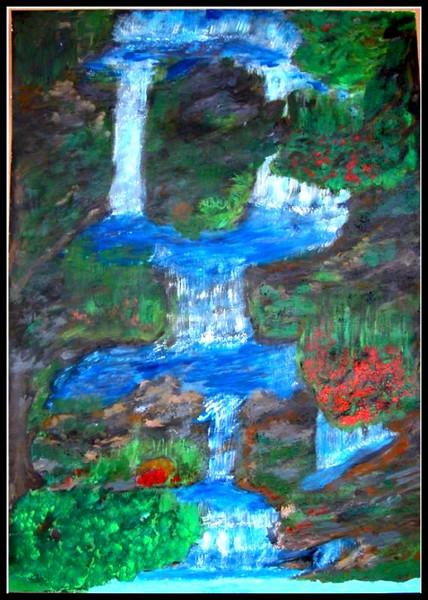 Fantasie, Wasserfall, Malerei