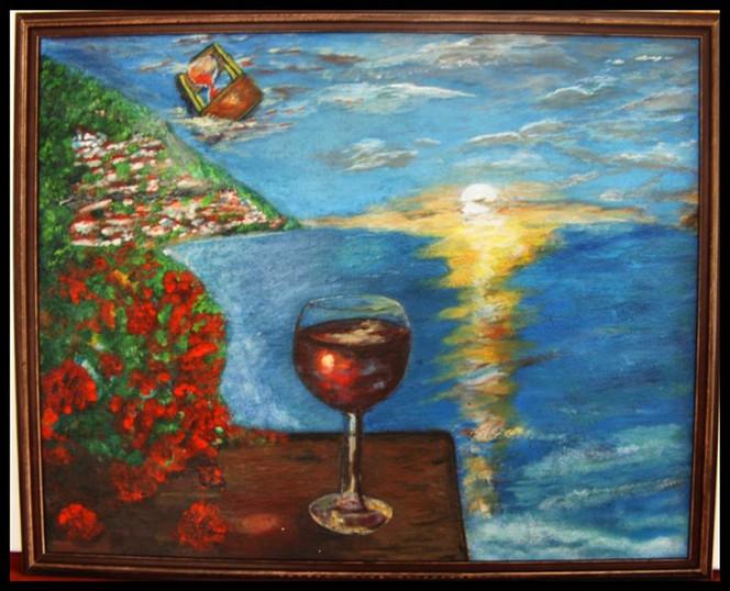 Genuss, Augenblicke, Zeit, Entspannen, Leben, Malerei