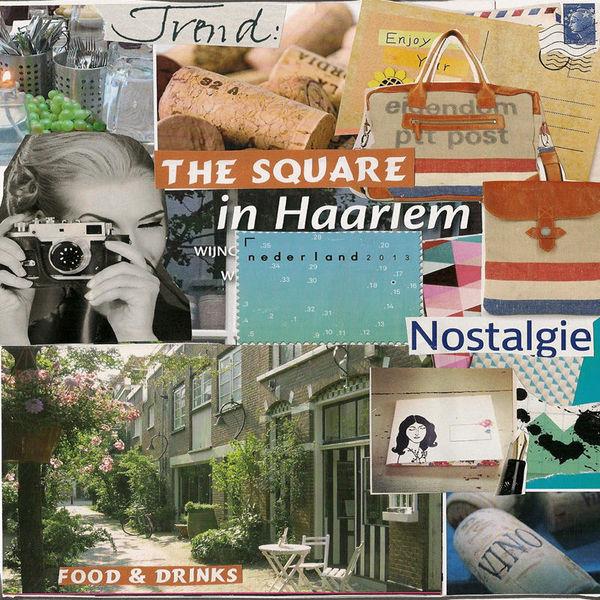 Platz, Erholung, Holland, Haarlem, Einblick, Mischtechnik