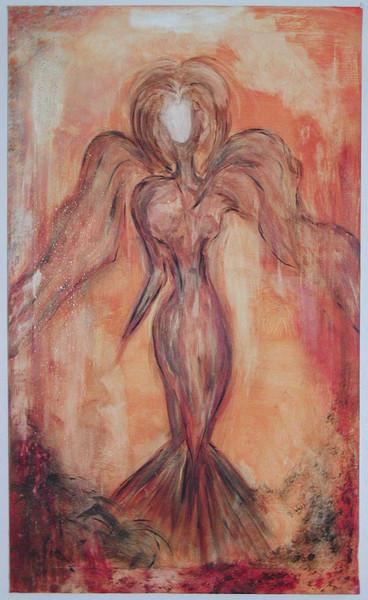 Braun, Vernissage, Schutzengel, Fee, Engel, Malerei