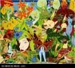 Geborgenheit, Malerei, Surreal, Wald