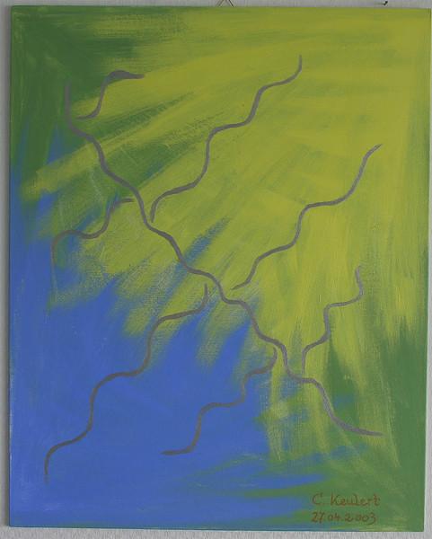 Abstrakt, Fantasie, Malerei, Sonne, Blau, Krater