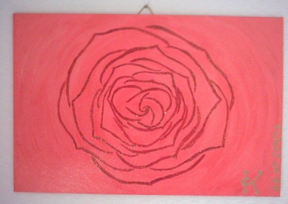 Malerei, Rose