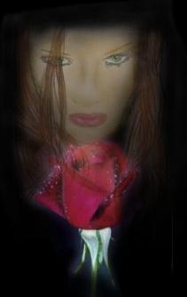 Digital, Digitale kunst, Rose,