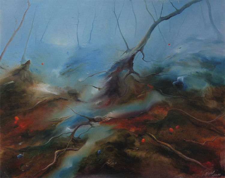 November, Herbst, Tod, Wald, Malerei, Herbstbilder