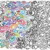 Farben, Kreaturen, Beziehung, Wimmelbild