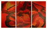 Rose, Rot, Blumen, Malerei