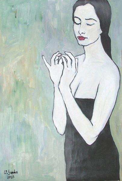 Erotik, Figural, Malerei, Modern, Frau, Menschen