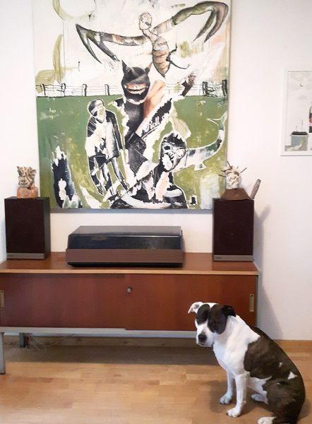 Hund, Musik, Malerei
