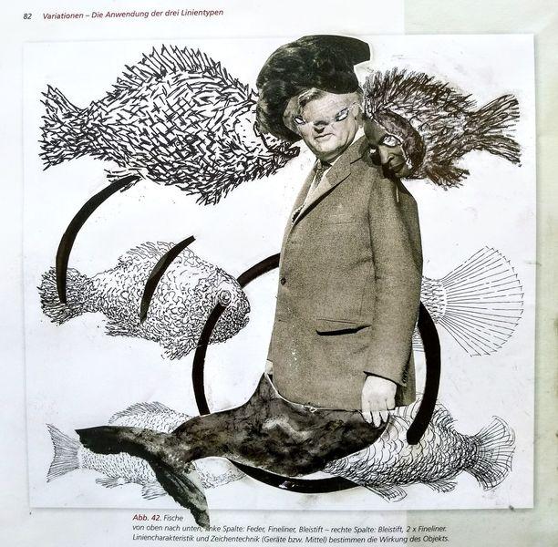 Nixe, Fisch, Meerjungfrau, Malerei