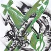 Flugzeug, Absturz, Sturzflug, Malerei