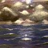 Wolken, Welle, Nahendes unwetter, Meer