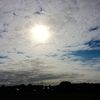 Morgensonne, Himmel, Wolkenfamilie, Häuser