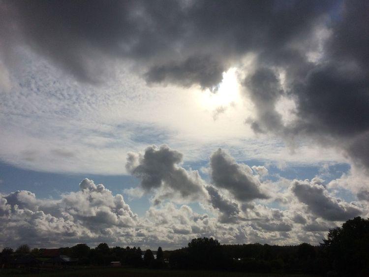 Sonne, Landschaft, Wolken, Himmel, Fotografie, See