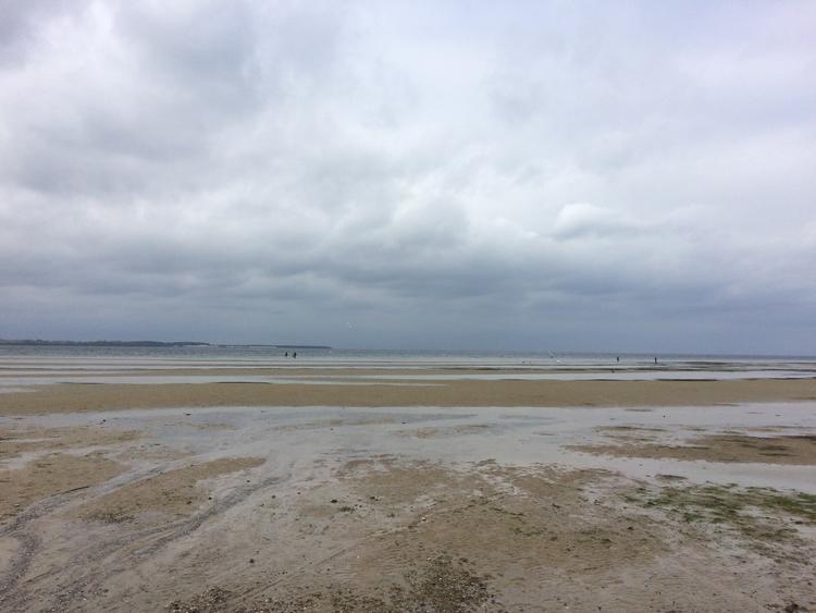 Strand, Ostsee, Menschen, Wolken, Ebbe, Himmel
