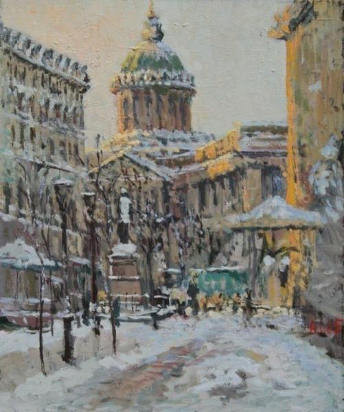 Malerei, Landschaft, Sementsov, Kathedrale,