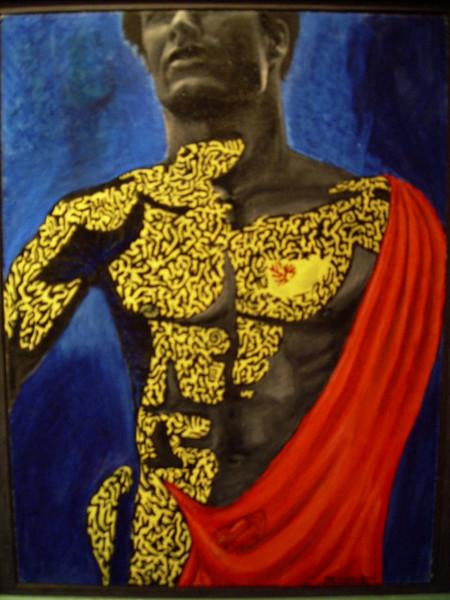 Malerei, Figural, Menschen, Mann, Fassade