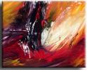 Abstrakt, Weiß, Malerei, Orange